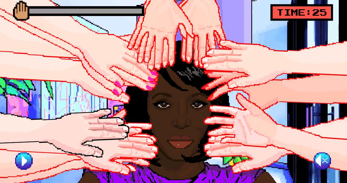 Screenshot fra spillet Hair Nah av Momo Pixel, 2017